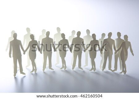 businessman and businesswoman silhouette on white background