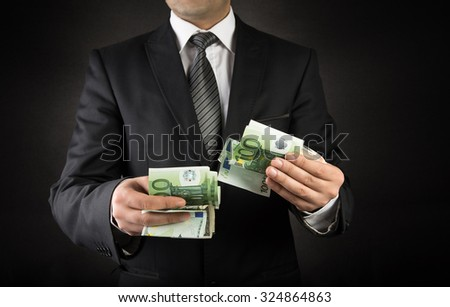 Businessman and Euro