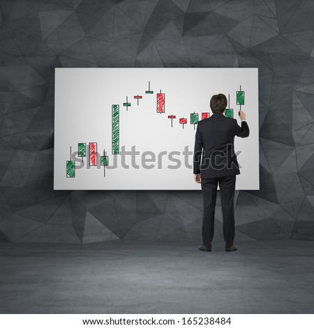 Businessman and forex - stock photo
