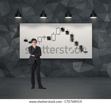 Businessman and quotation - stock photo
