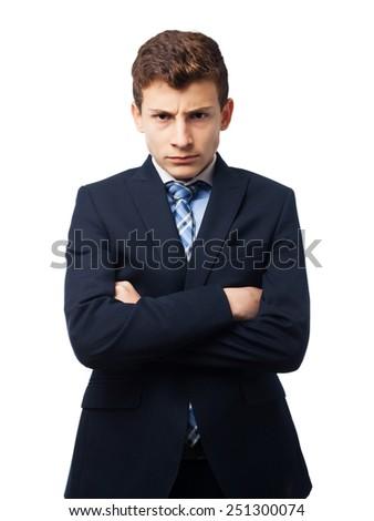 businessman angry boy - stock photo
