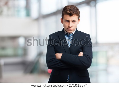 businessman angry boy - stock photo