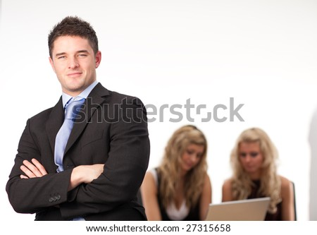 Businessman Arms Folded Team