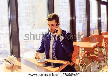 businessman at lunch, work, phone