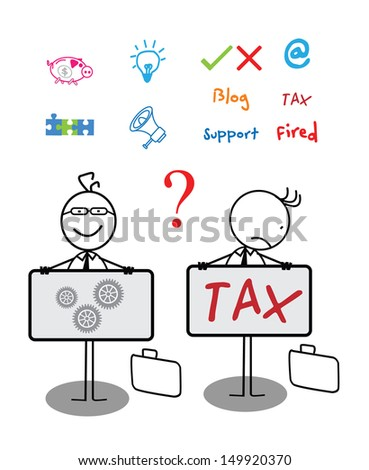 Businessman Banner Collection set - stock photo