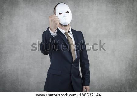 businessman calls for strike - stock photo