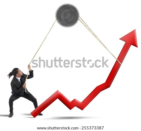 Businessman change the result of the statistics
