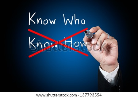 Businessman choose  know who as a choice - stock photo