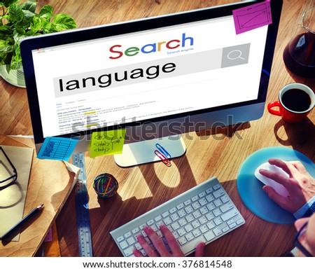 Businessman Connect Internet Search Website Concept - stock photo