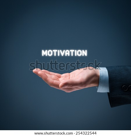 Businessman, consultant or human resources officer give you a motivation. - stock photo
