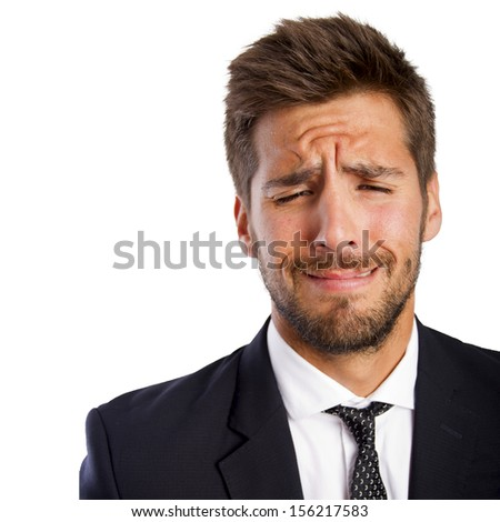 businessman crying