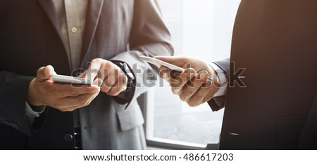 Businessman Discussion Meeting Working Asking Concept