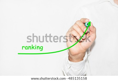 Businessman draw growing graph symbolize growing Ranking