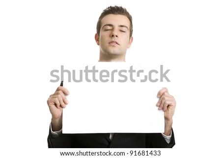businessman  dreaming for the success - stock photo