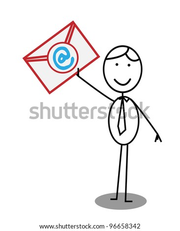 Businessman Email  - Vector Version Is Also Available