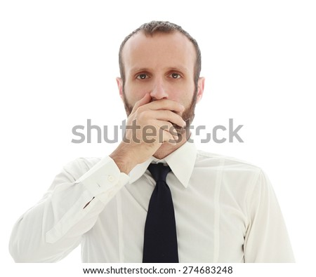 Businessman emotions and feelings. - stock photo