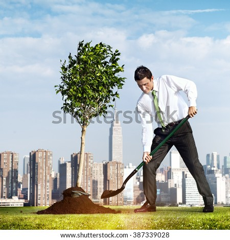 Businessman Entrepreneur Profit Build Concept - stock photo