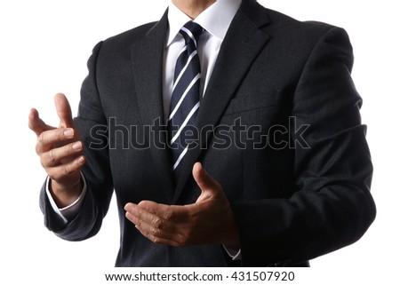 Businessman explaining - stock photo