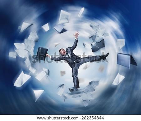 Businessman failure - stock photo