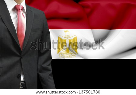 Businessman from Egypt conceptual image - stock photo