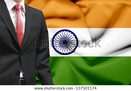 Businessman from India conceptual image - stock photo
