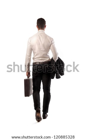 Businessman from the back - stock photo