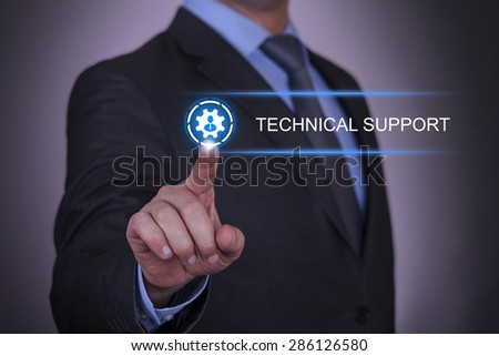 Businessman Gear Technical Support  - stock photo