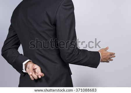 Businessman giving hand for shaking hands