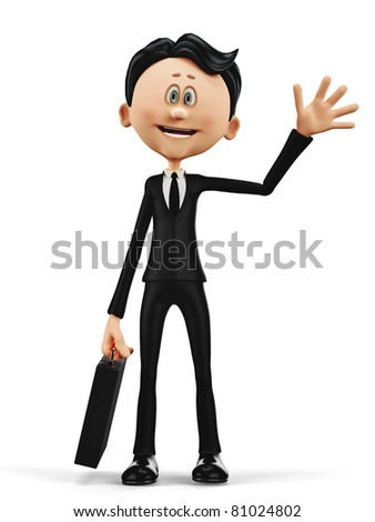 businessman greeting - stock photo