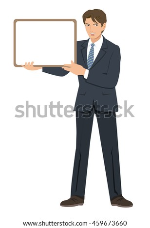 Businessman - guide plate - stock photo