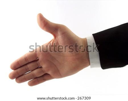 businessman hand - stock photo