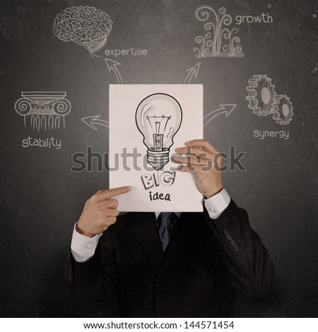 businessman hand show white cover book of success business as vintage style concept - stock photo
