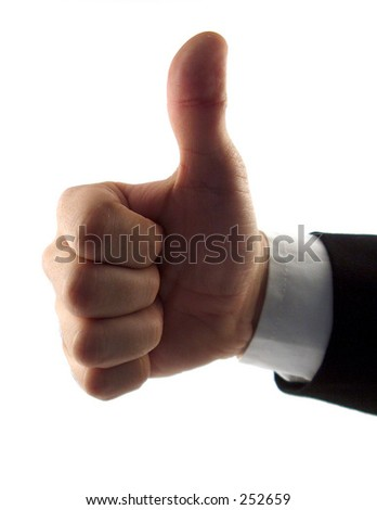 "businessman hand showing ""good job"" - stock photo"