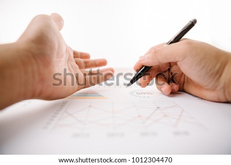businessman hand working and business strategy as concept,selective focus,flare light