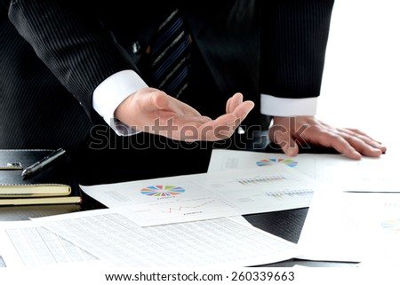 Businessman having presentation in meeting
