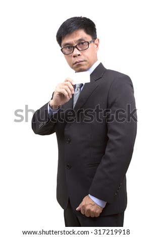 Businessman holding credit card  for Shopping.