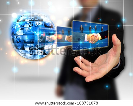 businessman holding Successful business