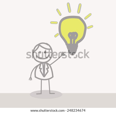 Businessman Idea - stock photo