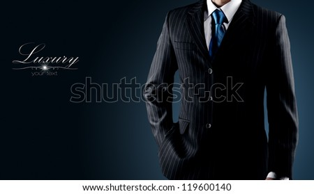 businessman in a luxury suit - stock photo