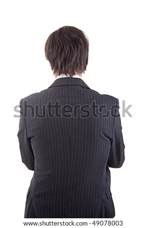 businessman  in back - stock photo