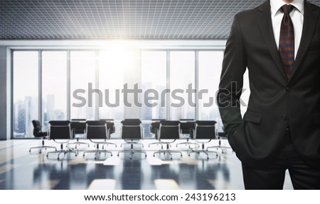 Businessman in contemporary office