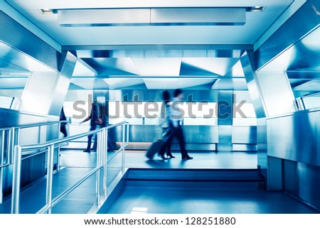 Businessman in office people building