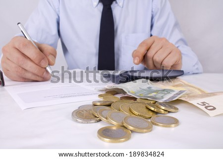 businessman in the office - stock photo