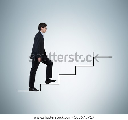 Businessman is going upstairs 2