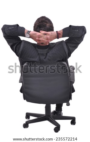 Businessman is takeing a rest