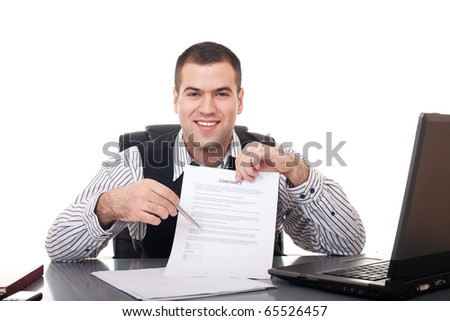 Businessman isolate on white background