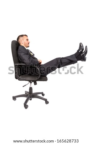 Businessman isolated