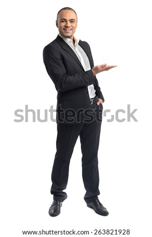 Businessman isolated - stock photo
