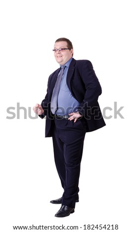 businessman isolated on a white background