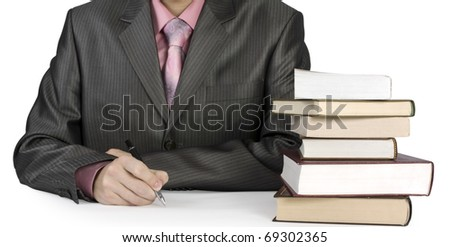 businessman isolated on a white background - stock photo